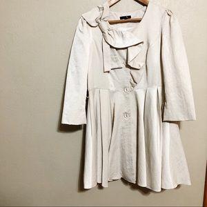 ryu Bow Collar High Waisted Dress Jacket